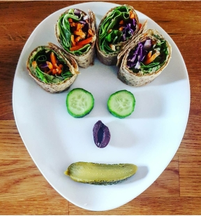 Veggie happy face